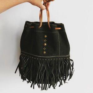 Vintage Leather Suede Bag